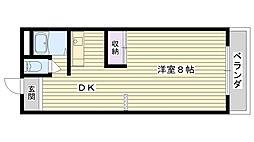 大阪府大阪市鶴見区諸口6丁目の賃貸マンションの間取り