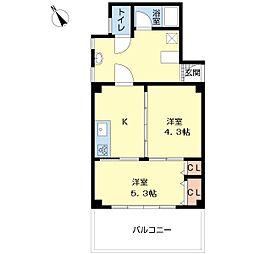 呉竹マンション[5階]の間取り
