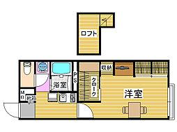 レオパレスFukufuku[2階]の間取り