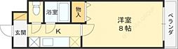 カデンツァK 菱江2 荒本13分[3階]の間取り