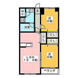 メルベーユ1374[2階]の間取り