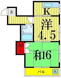 ハイツカワシマ[302号室]の間取り