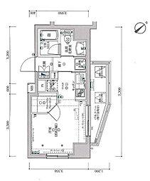 スパシエ国立矢川ステーションプラザ[605号室]の間取り