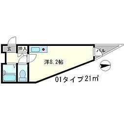 サンプラザ三越[1階]の間取り