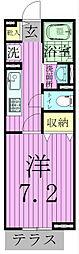 ウィステリア東松戸[101号室]の間取り