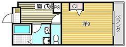 大弘元町ハイツ[3階]の間取り