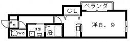 ウィステリア天王寺[1階]の間取り