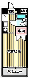 メゾンド別所[1階]の間取り