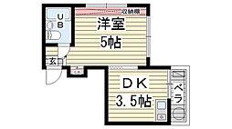 岡本ビラ[101号室]の間取り