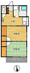 第3石川荘[202号室]の間取り
