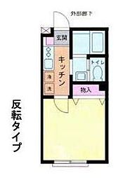 Kパレス立場(Kパレスタテバ)[1階]の間取り