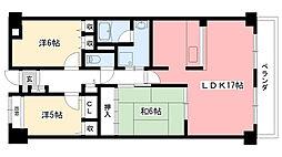 サンテ東甲子園[2階]の間取り