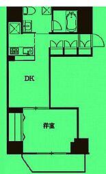 東京都千代田区三崎町の賃貸マンションの間取り