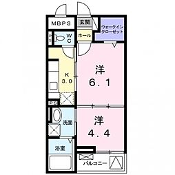 クレメントハウス[1階]の間取り