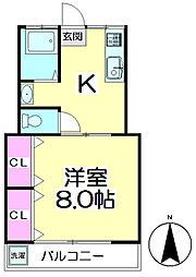 コーポ石井[302号室]の間取り