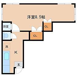 東京都豊島区駒込7丁目の賃貸アパートの間取り