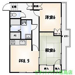 Residence CIMA[405号室]の間取り