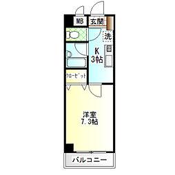 サニープラザ[3階]の間取り