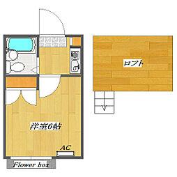 Plaza Kemigawa A棟[202号室]の間取り