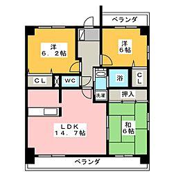 グランドメゾン神ノ倉[4階]の間取り
