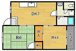 青山マンション[202号室]の間取り