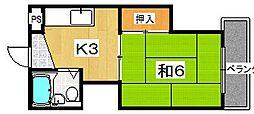 岡田ハイツ[102号室]の間取り