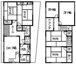 [一戸建] 大阪府岸和田市下野町2丁目 の賃貸【/】の間取り
