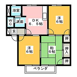 ハピネス幡山B棟[2階]の間取り