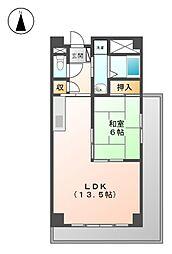 ア−バンステ−ジ田幡[4階]の間取り