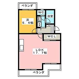 エタニティーII[2階]の間取り