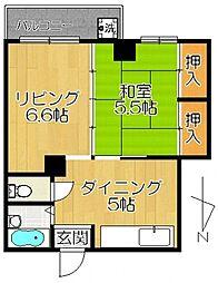松戸市岩瀬18[2階]の間取り
