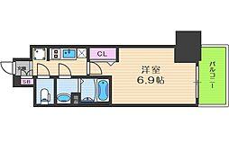 プレサンス阿波座駅前 4階1Kの間取り