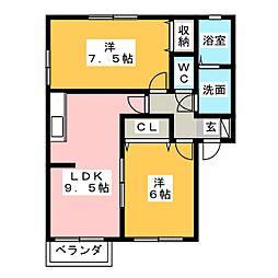 ライトハウス[1階]の間取り