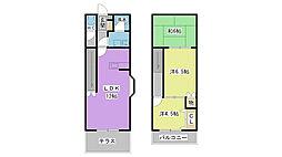 [タウンハウス] 福岡県久留米市東合川1丁目 の賃貸【/】の間取り