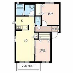 大阪府堺市堺区神石市之町の賃貸アパートの間取り