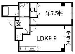 猪熊館[3階]の間取り