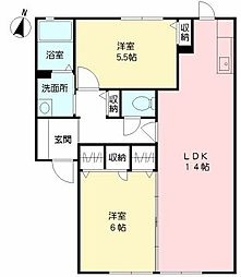 福岡県北九州市八幡西区本城東6丁目の賃貸アパートの間取り