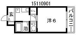 アソシア1番館[3階]の間取り
