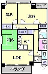 ビルレ堺東[302号室]の間取り