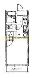 アズーロ港南中央[1階]の間取り