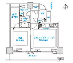 松屋タワー[606号室]の間取り