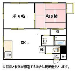 フィールズマンション2[3階]の間取り