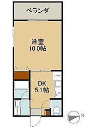 シティマンション グレーシア 4階1DKの間取り
