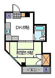 ハイツカワシマ[4階]の間取り