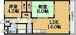 第50長栄ボンプレミール[2階]の間取り