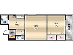 メゾン新大阪[3階]の間取り