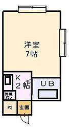 栄ロイヤルマンション3階Fの間取り画像