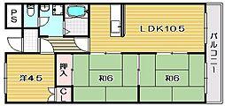 エントピアメゾン[1階]の間取り