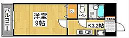 ウイングス片野II[11階]の間取り