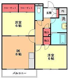 ミレニアム荻窪[1階]の間取り